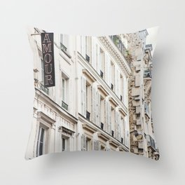 Hotel Amour in Montmartre, Paris Photography Throw Pillow