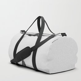 Steady As She Goes; aircraft coming in for an island landing black and white photography- photographs Duffle Bag