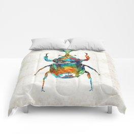 Colorful Beetle Art - Scarab Beauty - By Sharon Cummings Comforters