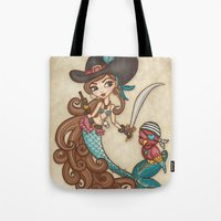 sword Tote Bags featuring Parrot's Sword by tsai-fi