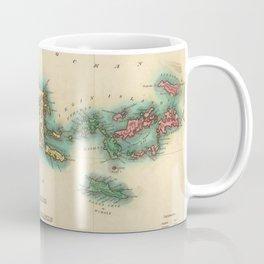 Vintage Map of Puerto Rico & Virgin Islands (1822) Coffee Mug