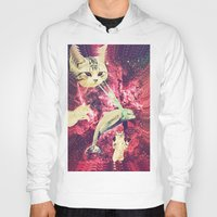 saga Hoodies featuring Galactic Cats Saga 2 by Carolina Nino