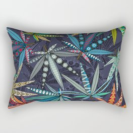 boho weed midnight Rectangular Pillow