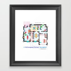 The house of Simpson family - Ground floor Framed Art Print