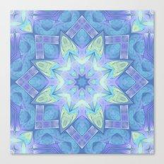 End of Winter Mandala Canvas Print