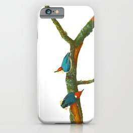 Turquoise Bird iPhone Case