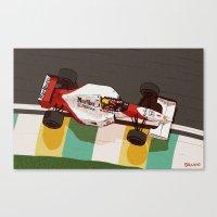 senna Canvas Prints featuring Senna by Bruno Gabrielli