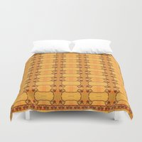 ashton irwin Duvet Covers featuring Ebola Tapestry-1 by Alhan Irwin by Microbioart
