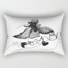 A Raven with a strict wife Rectangular Pillow
