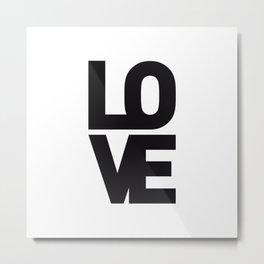 LOVE NO1 Metal Print