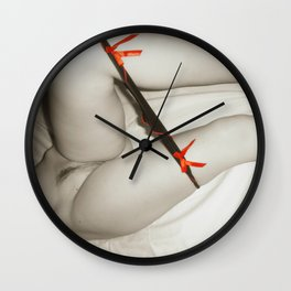 Naughty, naughty posing Wall Clock