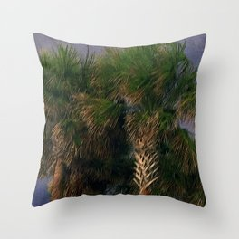 Palm Trees, Stormy Weather Throw Pillow