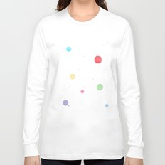 colored splatters watercolor Long Sleeve T-shirt
