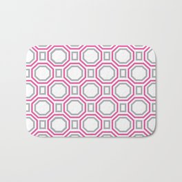 Pink Harmony in Symmetry Bath Mat