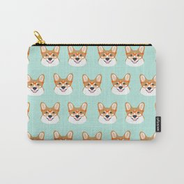 Corgi glasses cute funny dog gifts for welsh corgi dog breed owners must haves by pet friendly Carry-All Pouch