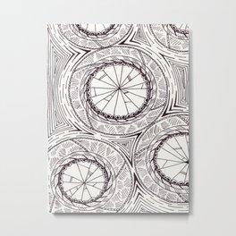 Geometric Circles Metal Print