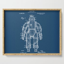Submarine Armor Patent Blueprint 1915 Serving Tray