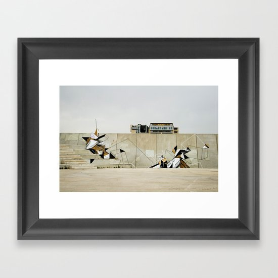 Diagonal Mar Framed Art Print