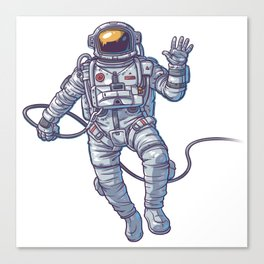 ASTRONAUT FLOATING IN SPACE ILLUSTRATION Canvas Print