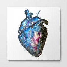 Galaxy heart Metal Print