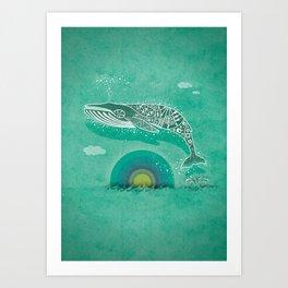 Whale Future Art Print
