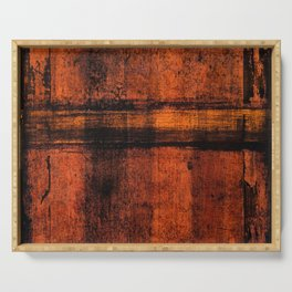 Pathway (Rust Abstract) Serving Tray