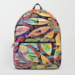Cubistic Rainbow Flower Kaleidoscope Backpack