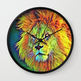 AnimalColor_Lion_009_by_JAMColors Wall Clock