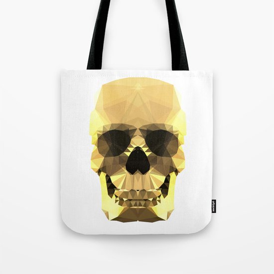 Polygon Heroes - Gold Skull Tote Bag