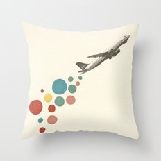 Leaving on a Jet Plane Throw Pillow