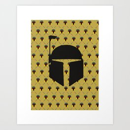 Boba Fett Pattern Art Print