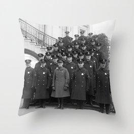 White House Police Detail - 1923 Throw Pillow