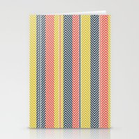 mid century Stationery Cards featuring Mid Century Herringbone 2 by David Andrew Sussman