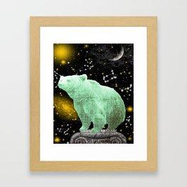 Celestial Moon Bear Framed Art Print