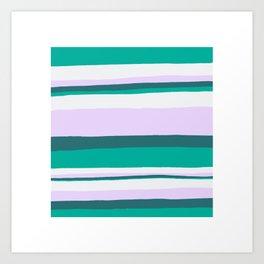 Hermosa, sunset stripes Art Print