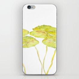 lotus leaves iPhone Skin