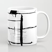 stripe Mugs featuring Stripe by LilianaPerez