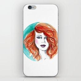 'Circle' Redhead Illustration iPhone Skin