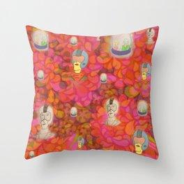 Space Racers Disco Throw Pillow