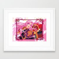 utena Framed Art Prints featuring Utena La Filette Révolutionnaire by Neo Crystal Tokyo