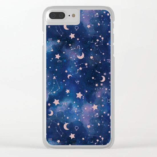 Zodiac - Watercolor Clear iPhone Case