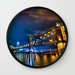 Cincinnati Skyline Wall Clock