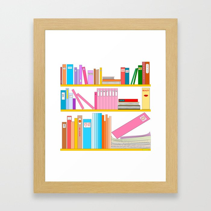 Favorite books Framed Art Print