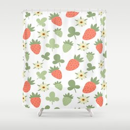 Stawberry Pattern Shower Curtain