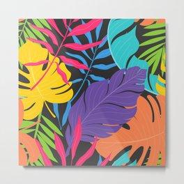 Six Leaves Plant Metal Print