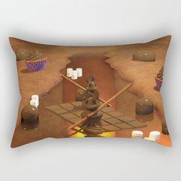 Chocolate Waterfall Bunny Boat Rectangular Pillow