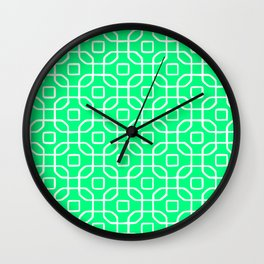 Grille No. 4 -- Seafoam Wall Clock