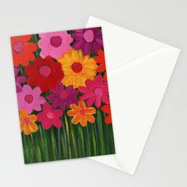 Multi Colored Flowers Stationery Cards