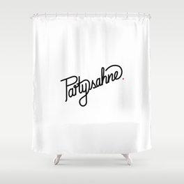 Partysahne   [black] Shower Curtain