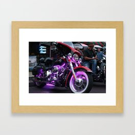 Purple Lights Framed Art Print